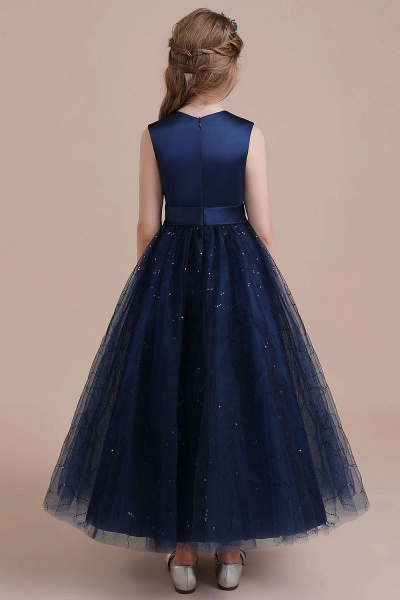 Chic Bow Tulle A-line Flower Girl Dress_3