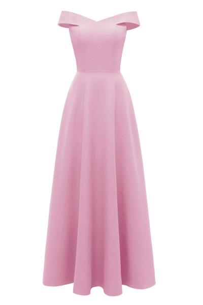 Women Simple Off-the-shoulder Bridesmaid Party Dress Long Burgundy Dress_10