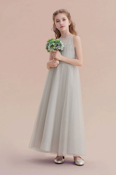 Chic Ankle Length Tulle Flower Girl Dress_5