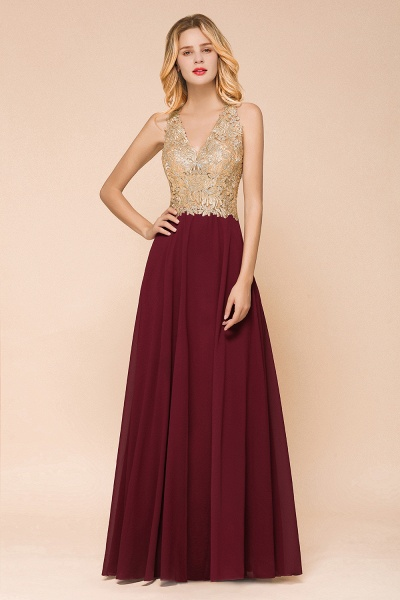 Awesome V-neck Chiffon Evening Dress_7