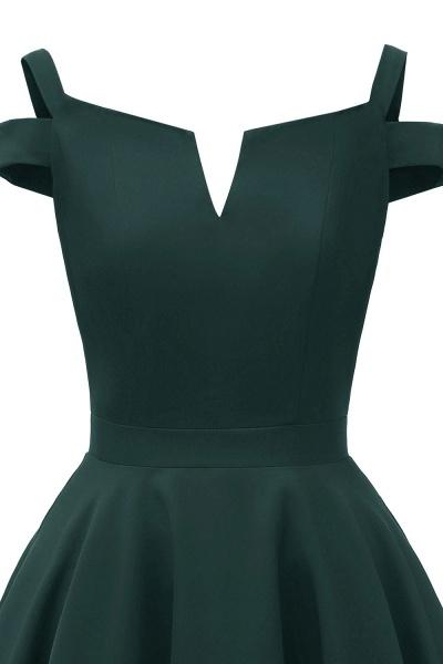 Sexy Cap Sleeves Princess Vintage Dresses with Straps | Womens Retro V-neck Emerald Cocktail Dress_11