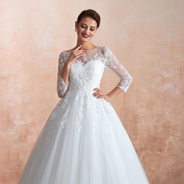 Wonderful Appliques Tulle A-line Wedding Dress_9