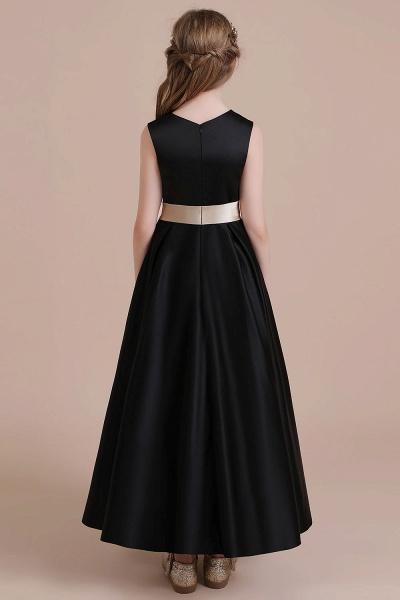 Elegant A-line Satin Flower Girl Dress_3