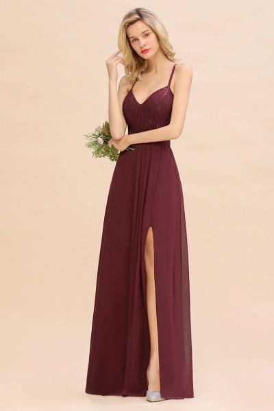 BM0753 Lace Spaghetti Straps A-Line Bridesmaid Dress_5