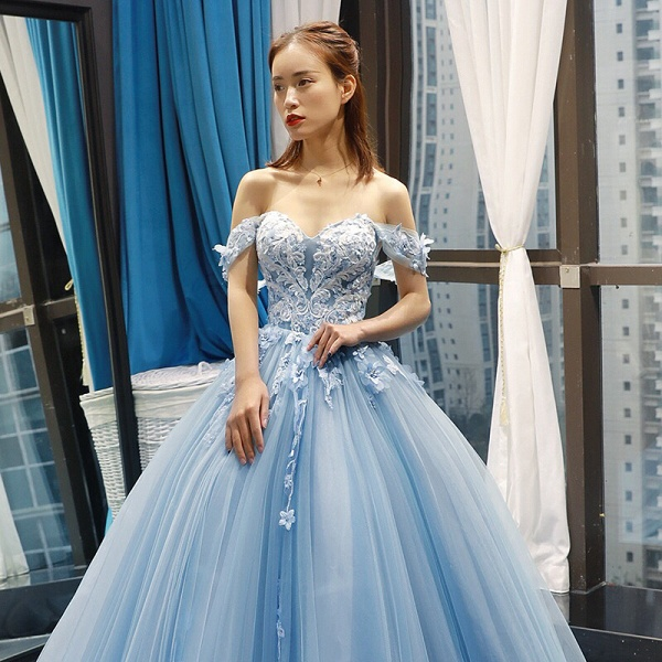 Glorious Sweetheart Tulle A-line Prom Dress_2