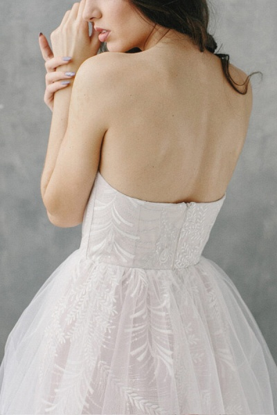 Awesome Sweetheart Lace Tulle A-line Wedding Dress_7