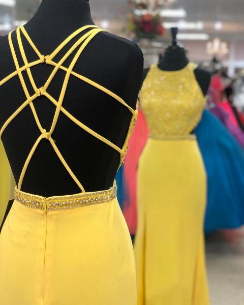Marvelous Jewel Chiffon A-line Prom Dress_3