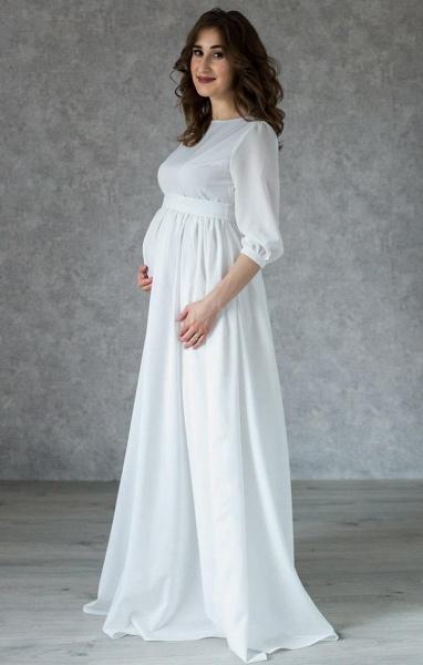 Awesome Floor Length Chiffon Wedding Dress_4