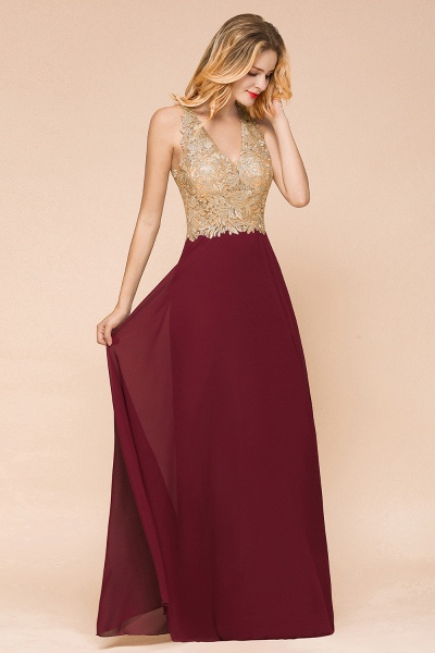 Awesome V-neck Chiffon Evening Dress_8