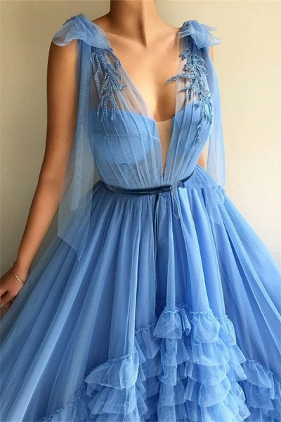 Fascinating V-neck Tulle A-line Prom Dress_2