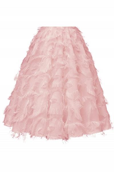 Elegant High neck Artifical Feather A-line Vintage Cocktail Dresses | Retro A-line Burgundy Homecoming Dress_11