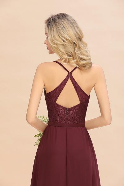 BM0753 Lace Spaghetti Straps A-Line Bridesmaid Dress_8