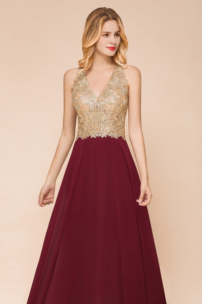 Awesome V-neck Chiffon Evening Dress_14