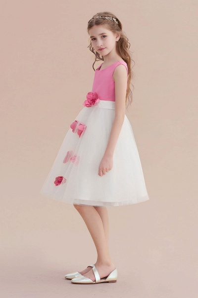 Affordable Tulle A-line Flower Girl Dress_4