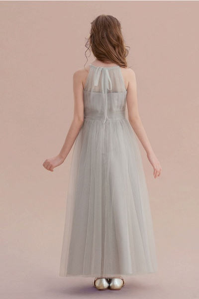 Chic Ankle Length Tulle Flower Girl Dress_3