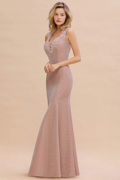 Fascinating V-neck Lace Mermaid Evening Dress_14