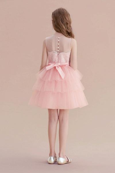 Graceful Layered Tulle Flower Girl Dress_3