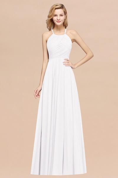 A-Line Chiffon Halter Ruffles Floor-Length Bridesmaid Dress_1