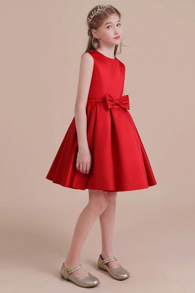 Latest A-line Satin Flower Girl Dress_4