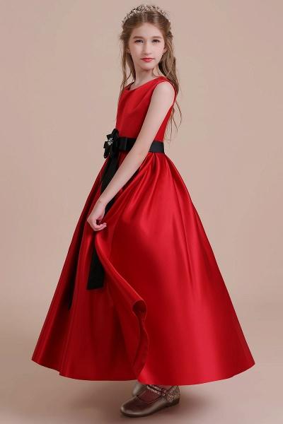 Elegant Satin A-line Flower Girl Dress_7