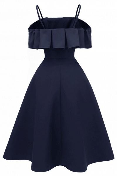 Sexy Spaghetti Straps Cascading Ruffles Vintage Dresses | Womens High quality princess Cocktail Dress_9