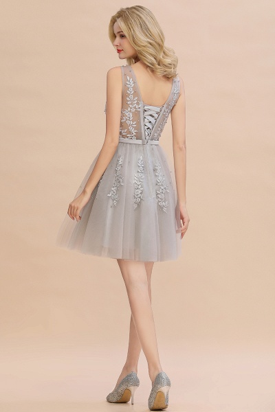 Sexy V-neck Lace-up Short Homecoming Dress with Lace Appliques_22