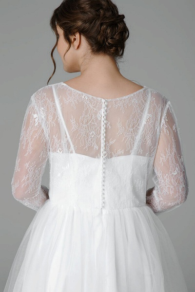 Plus Size Long Sleeve Lace Tulle Wedding Dress_6