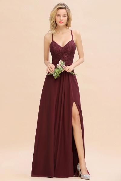 BM0753 Lace Spaghetti Straps A-Line Bridesmaid Dress_6