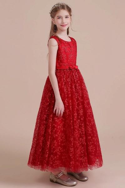 Elegant A-line Ankle Length Tulle Flower Girl Dress_5