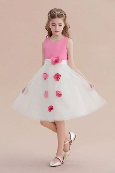 Affordable Tulle A-line Flower Girl Dress_5