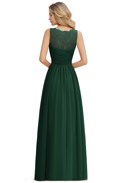 Eye-catching V-neck Lace A-line Evening Dress_17