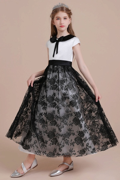 Cute Lace Cap Sleeve A-line Flower Girl Dress_6