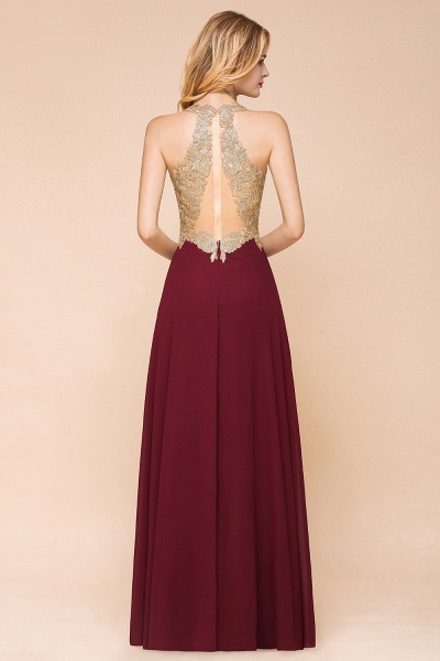 Awesome V-neck Chiffon Evening Dress_13