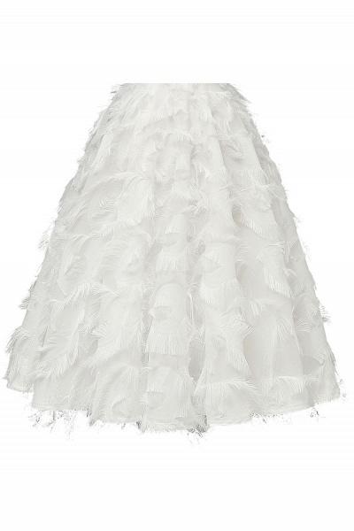 Elegant High neck Artifical Feather A-line Vintage Cocktail Dresses | Retro A-line Burgundy Homecoming Dress_21