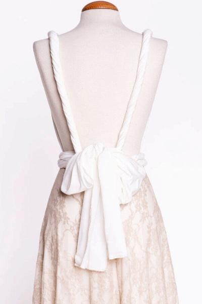 Awesome V-neck Lace Sheath Wedding Dress_9