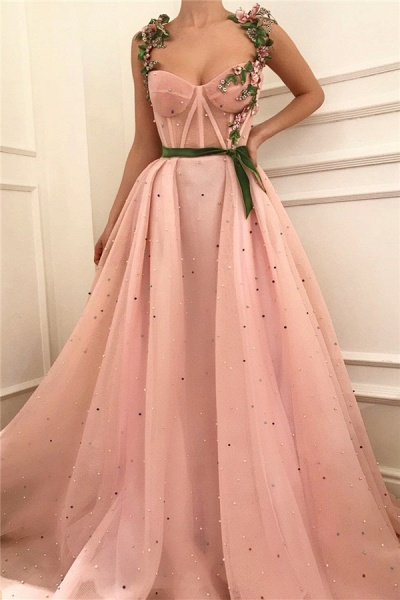 Beautiful Sweetheart Tulle A-line Prom Dress_1