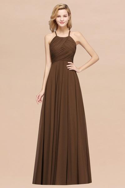 A-Line Chiffon Halter Ruffles Floor-Length Bridesmaid Dress_12