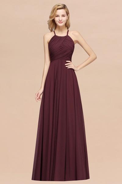 A-Line Chiffon Halter Ruffles Floor-Length Bridesmaid Dress_47