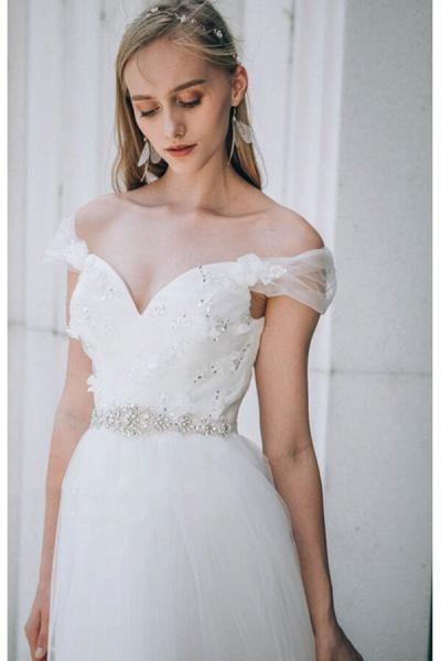 Sweetheart Beading Tulle A-line Wedding Dress_7