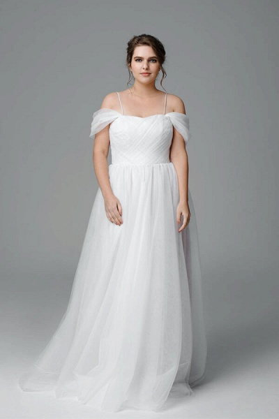 Plus Size Ruffle Tulle A-line Wedding Dress_1