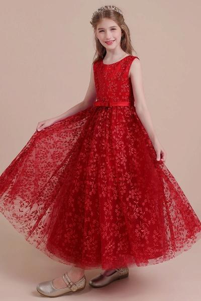 Elegant A-line Ankle Length Tulle Flower Girl Dress_7
