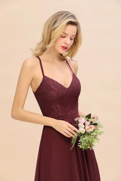 BM0753 Lace Spaghetti Straps A-Line Bridesmaid Dress_7
