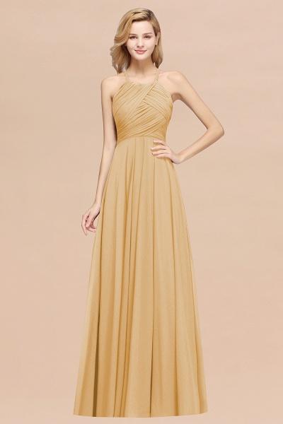 A-Line Chiffon Halter Ruffles Floor-Length Bridesmaid Dress_13