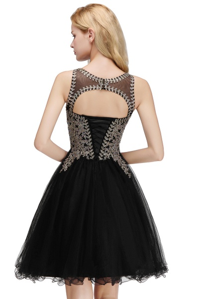 Fabulous Jewel Tulle A-line Evening Dress_7