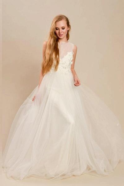 Eye-catching Beading Tulle A-line Wedding Dress_1