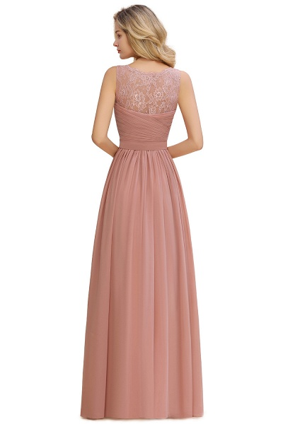 Eye-catching V-neck Lace A-line Evening Dress_15