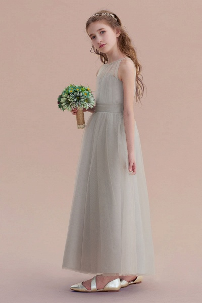Chic Ankle Length Tulle Flower Girl Dress_6