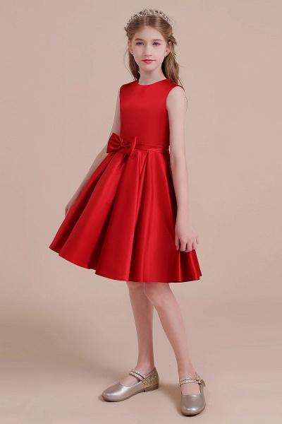 Latest A-line Satin Flower Girl Dress_5