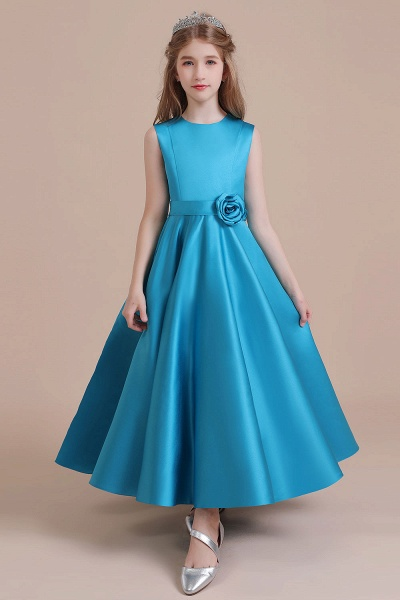 Awesome Satin A-line Flower Girl Dress_1