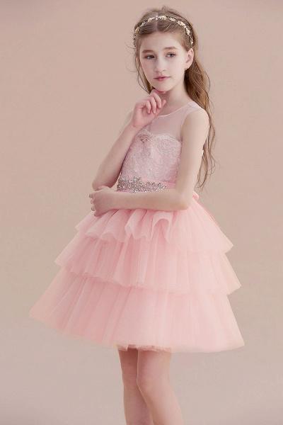 Graceful Layered Tulle Flower Girl Dress_7
